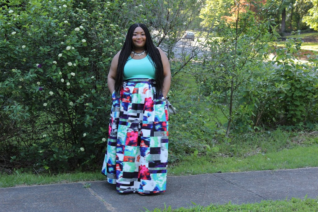 For The Love of Blue: The Maxi Skirt