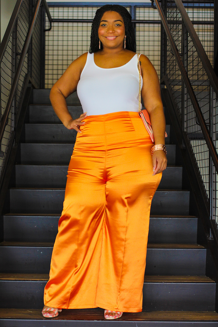 Orange Dream: Satin Pants