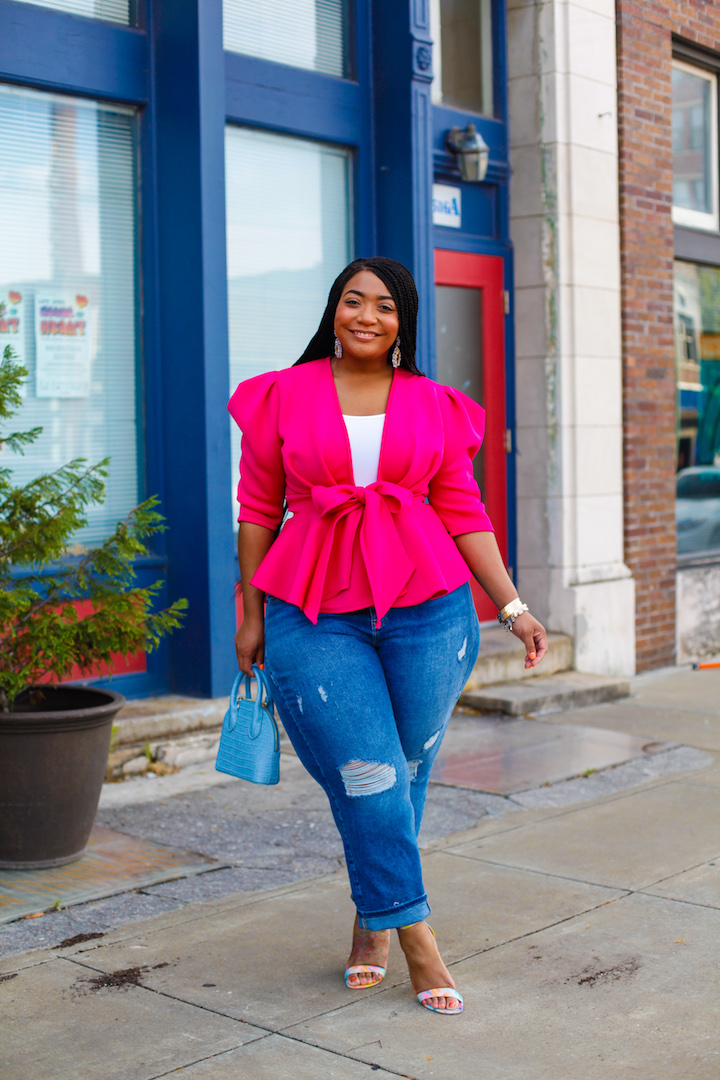 Pretty in Pink: Pink Peplum Top